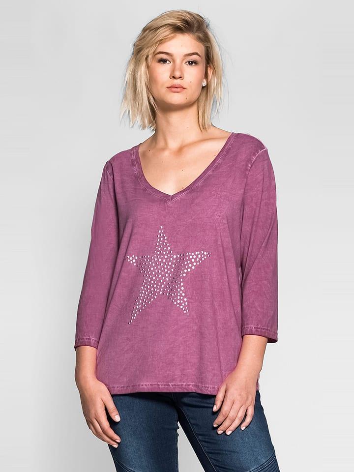Sheego Koszulka w kolorze fioletowym