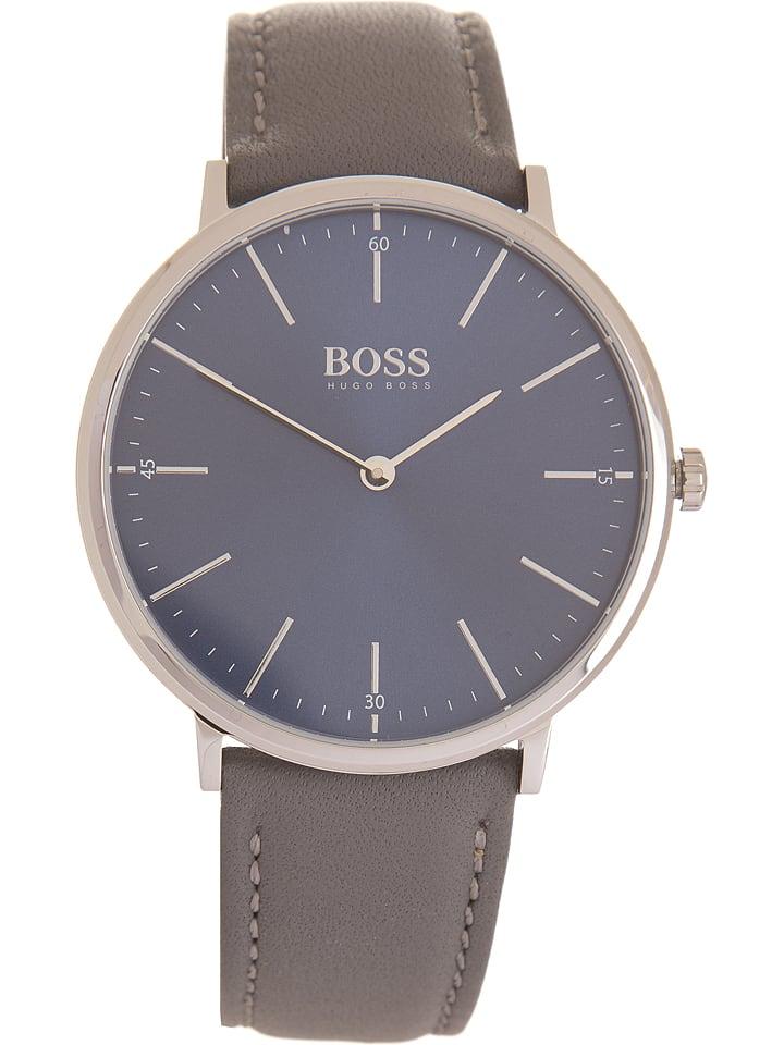 4351cd6c53d22 Zegarek kwarcowy w kolorze szaro-srebrno-granatowym - Hugo Boss ...