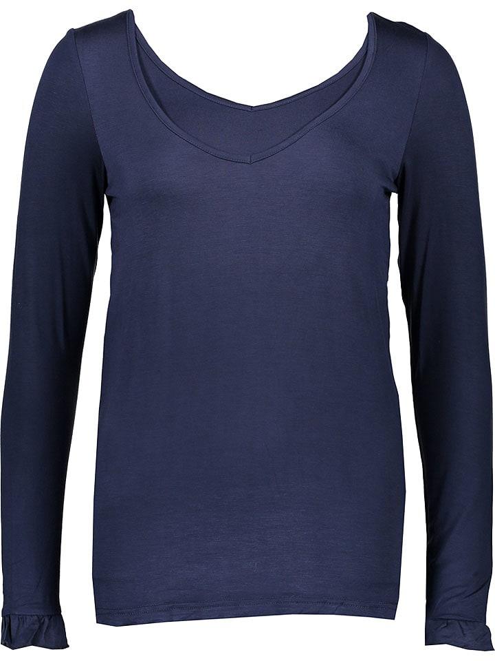 Mama licious T-shirt de maternité manches longues - bleu foncé