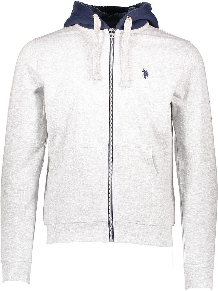U.S. Polo Bluza w kolorze szarym