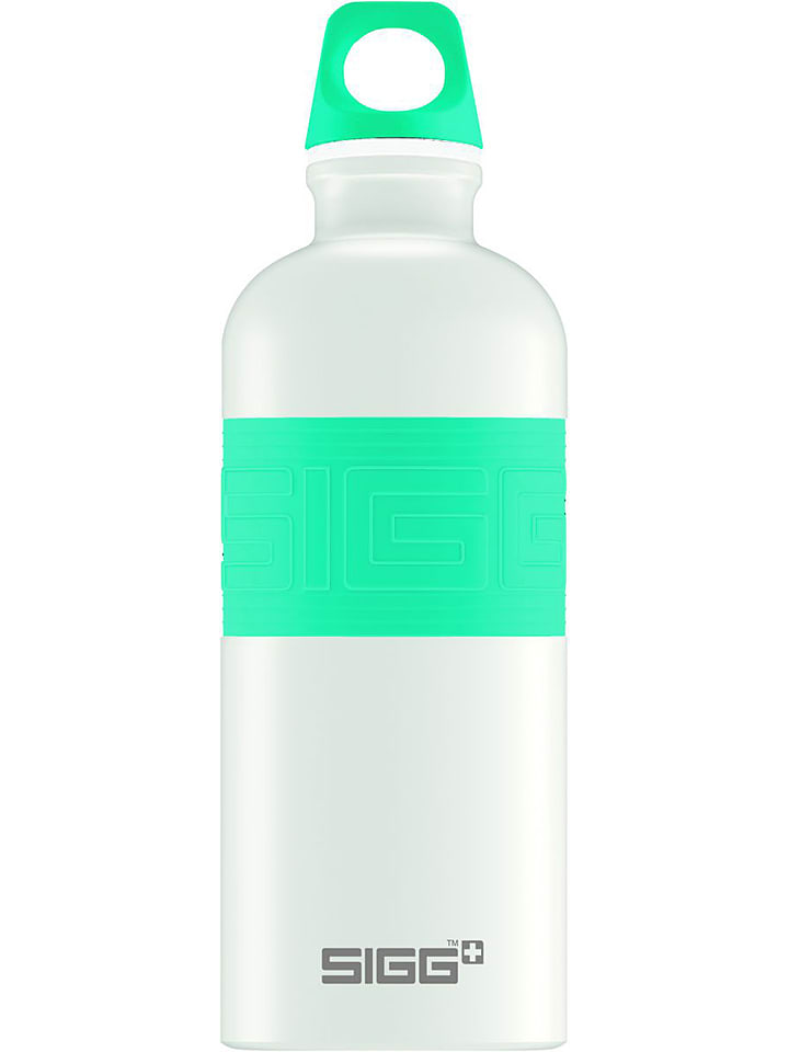 """SIGG Drinkfles """"CYD Pure White Touch"""" wi/turquoise - 600 ml"""