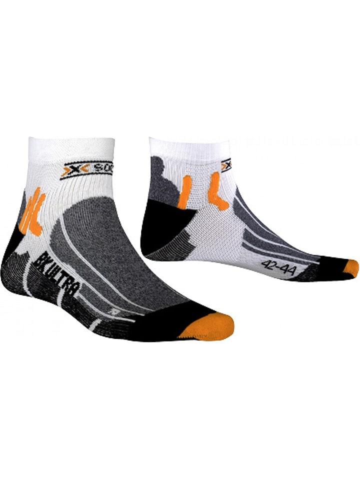 """X-Socks Skarpety kolarskie """"Biking Ultralight"""" w kolorze szaro-czarnym"""