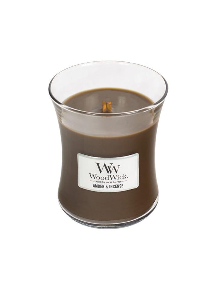 """WoodWick Średnia świeczka zapachowa """"Core"""" - Amber & Incense"""