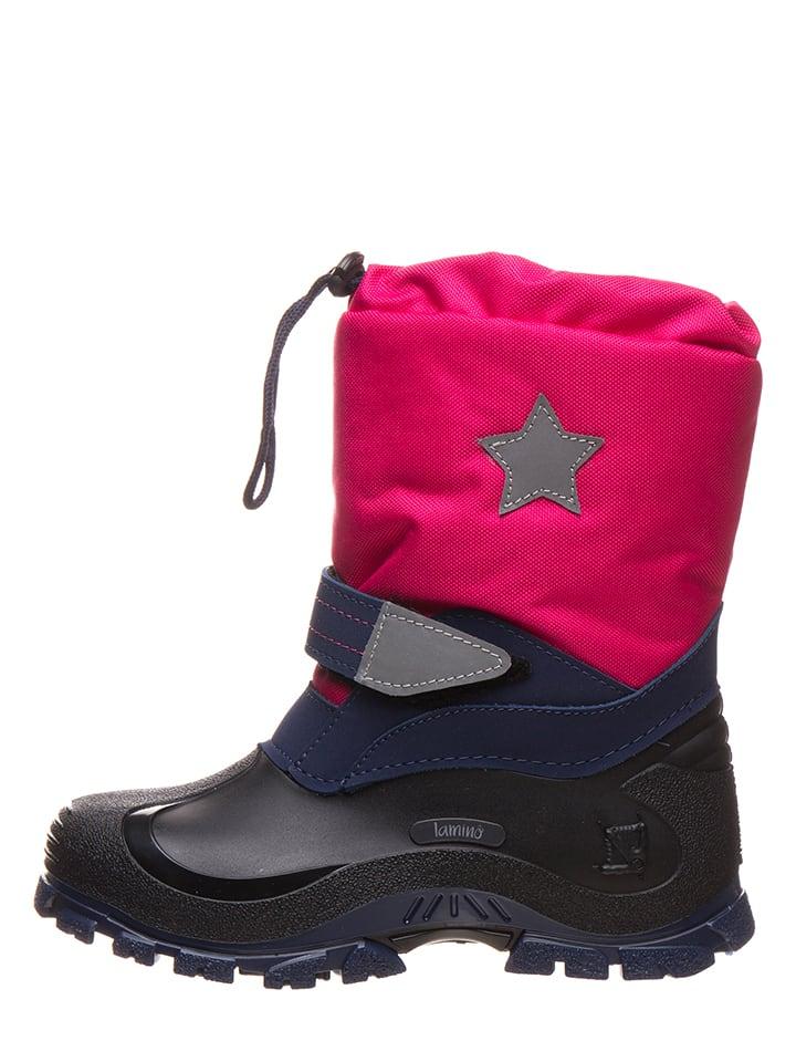 """Lamino Botki zimowe """"Star"""" w kolorze różowym"""