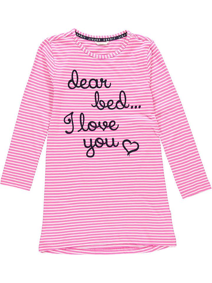 ESPRIT Koszula nocna w kolorze granatowo-różowym