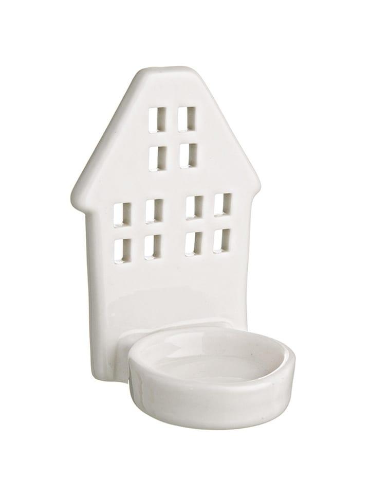 Dom z pomysłem Świecznik w kolorze białym - (S)6,7 x (W)10,1 x (G)6,4 cm