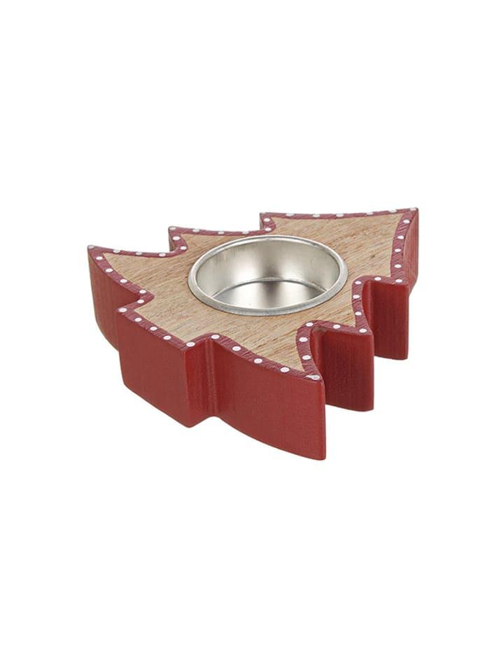 Dom z pomysłem Świecznik w kolorze czerwonym - (S)10 x (W)2,5 x (G)10 cm