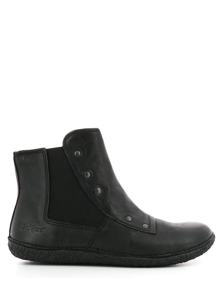 "Kickers Leder-Ankle-Boots ""Happli"" in Schwarz"