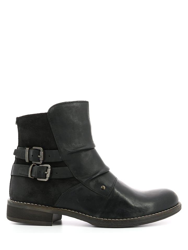 "Kickers Leder-Boots ""Smatch"" in Schwarz"