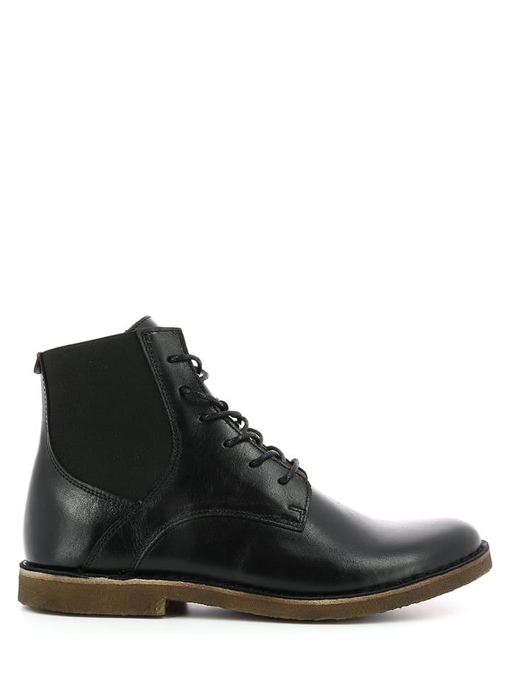 """Kickers Leder-Boots """"Titi"""" in Schwarz"""