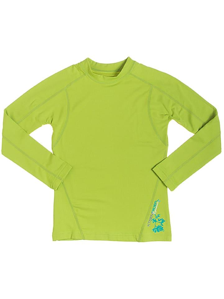 Peak Mountain Koszulka funkcyjna w kolorze limonkowym