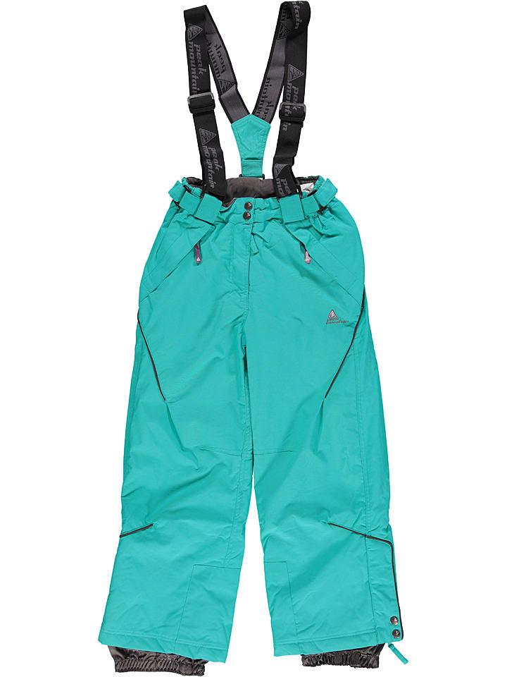 Spodnie narciarskie w kolorze turkusowym Peak Mountain