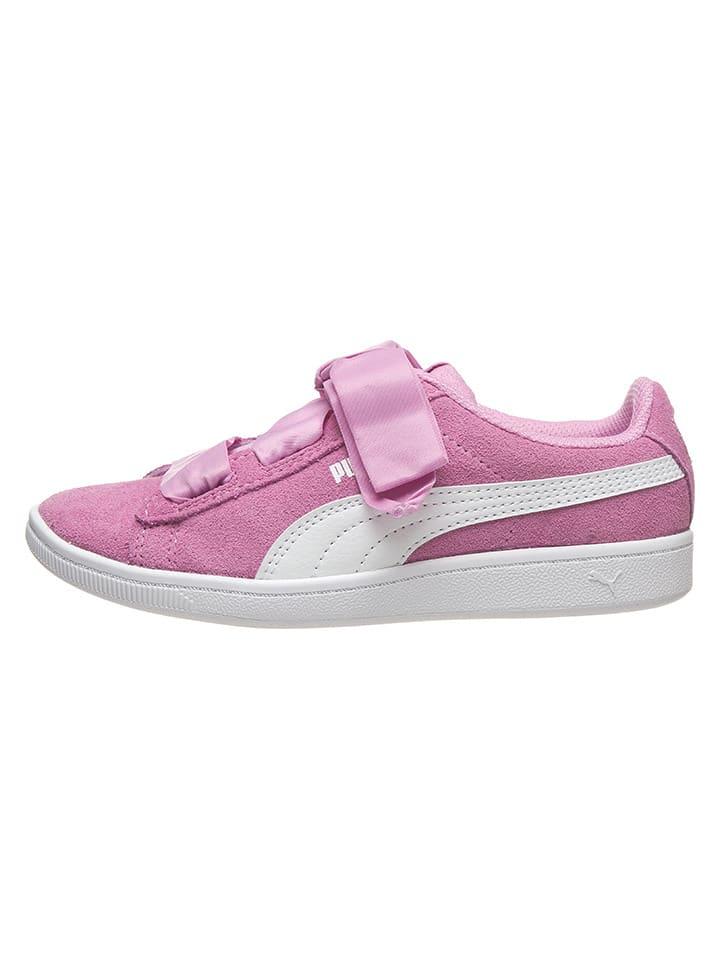 """Puma Leren sneakers """"Vikky Ribbon"""" roze"""