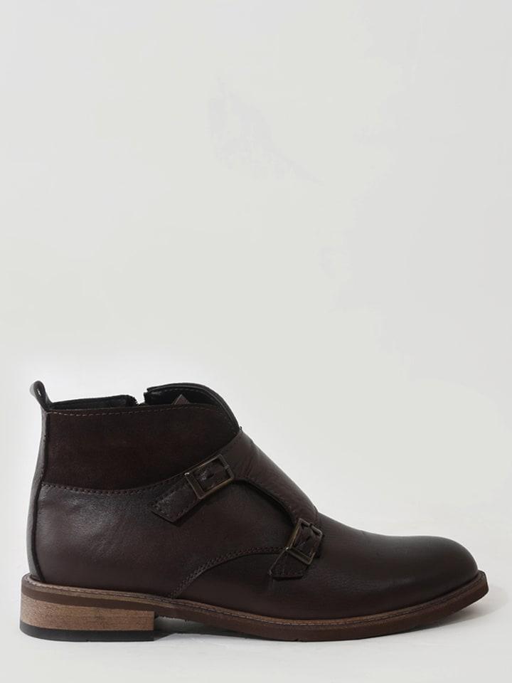 ONOUQUO Chaussures monk en cuir - marron