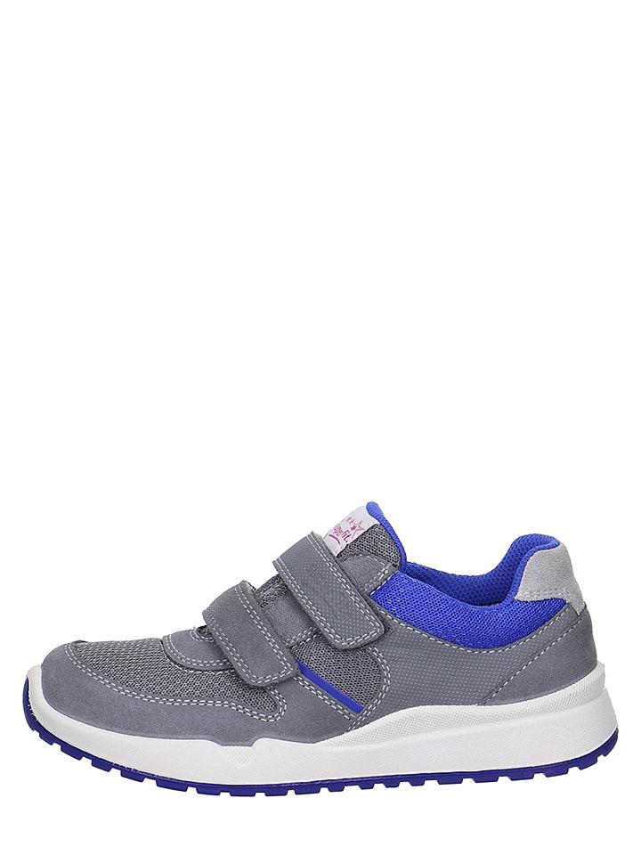 """Superfit Leder-Sneakers """"Strider"""" in Grau/ Blau"""