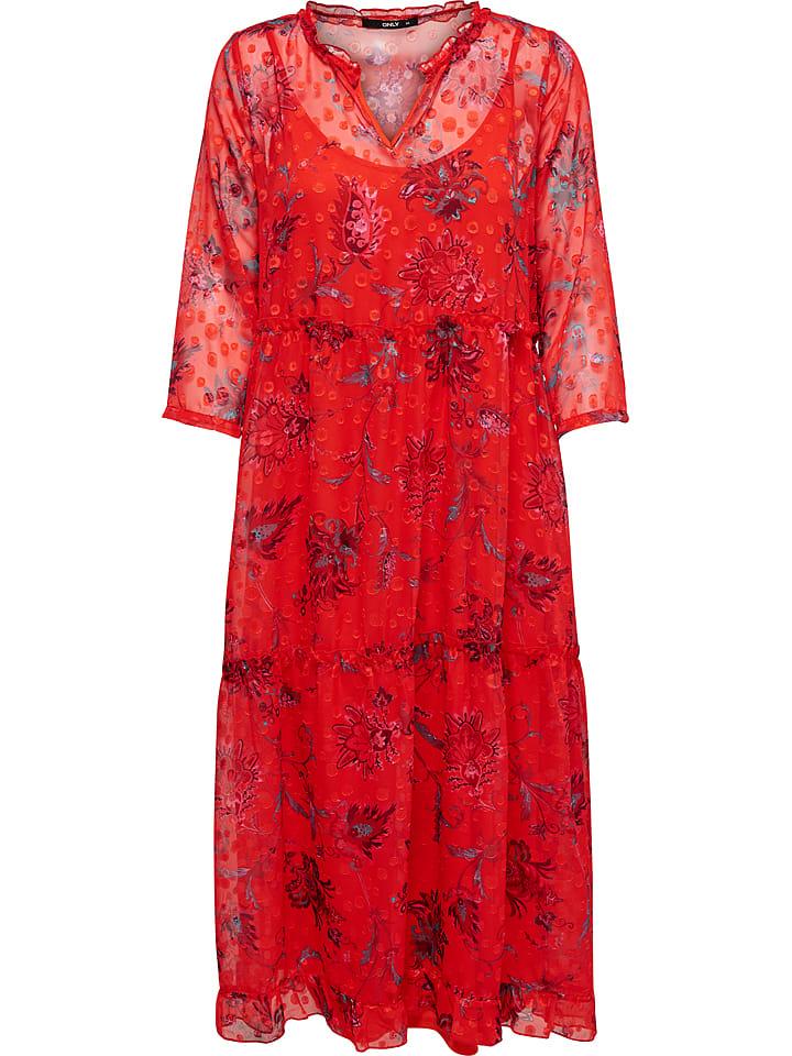 ONLY Sukienka w kolorze czerwonym