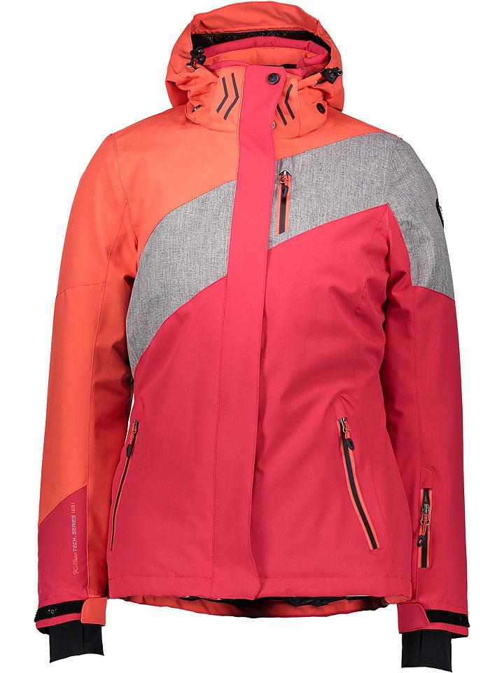 "Killtec Ski-/ Snowboardjacke ""Wenzana"" in Pink/ Orange/ Silber"