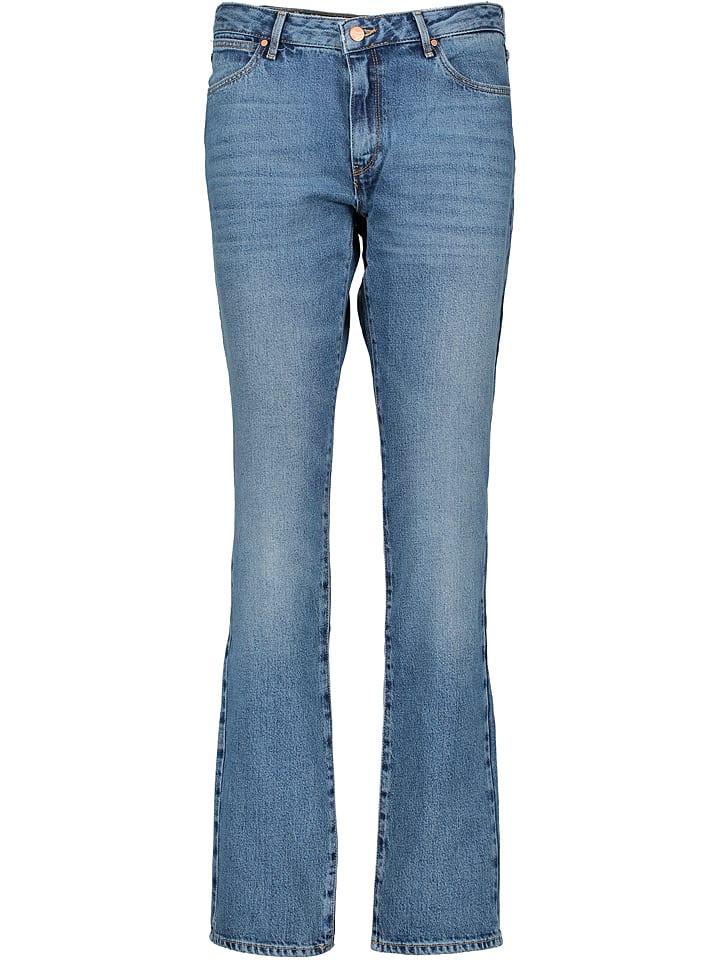 Wrangler Dżinsy - Straight fit - w kolorze niebieskim