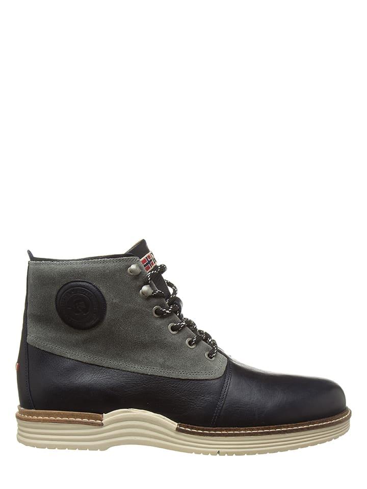"""Napapijri Skórzane sneakersy """"Edmund"""" w kolorze czarnym"""