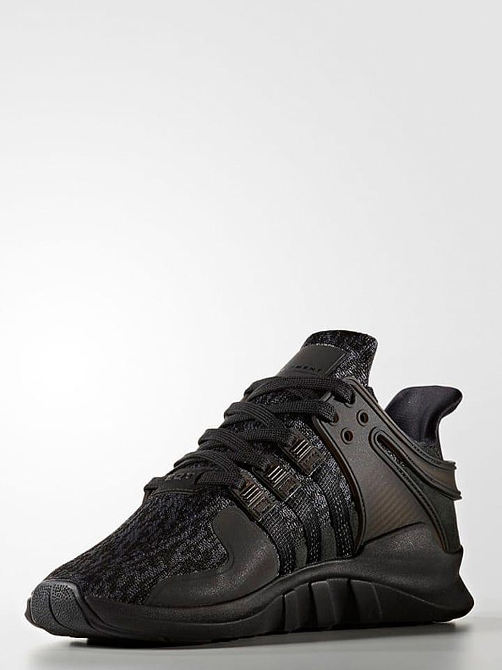 """Sneakersy """"EQT Support"""" w kolorze czarnym"""