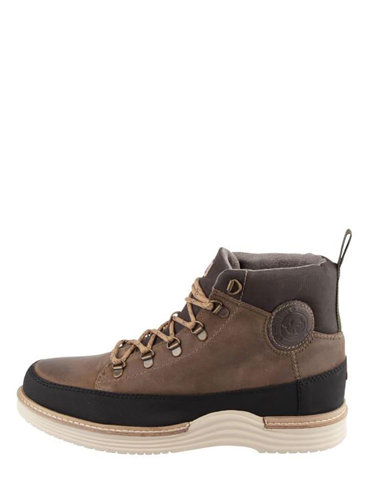 """Napapijri Sneakersy """"Edmund"""" w kolorze szaro-brązowym"""
