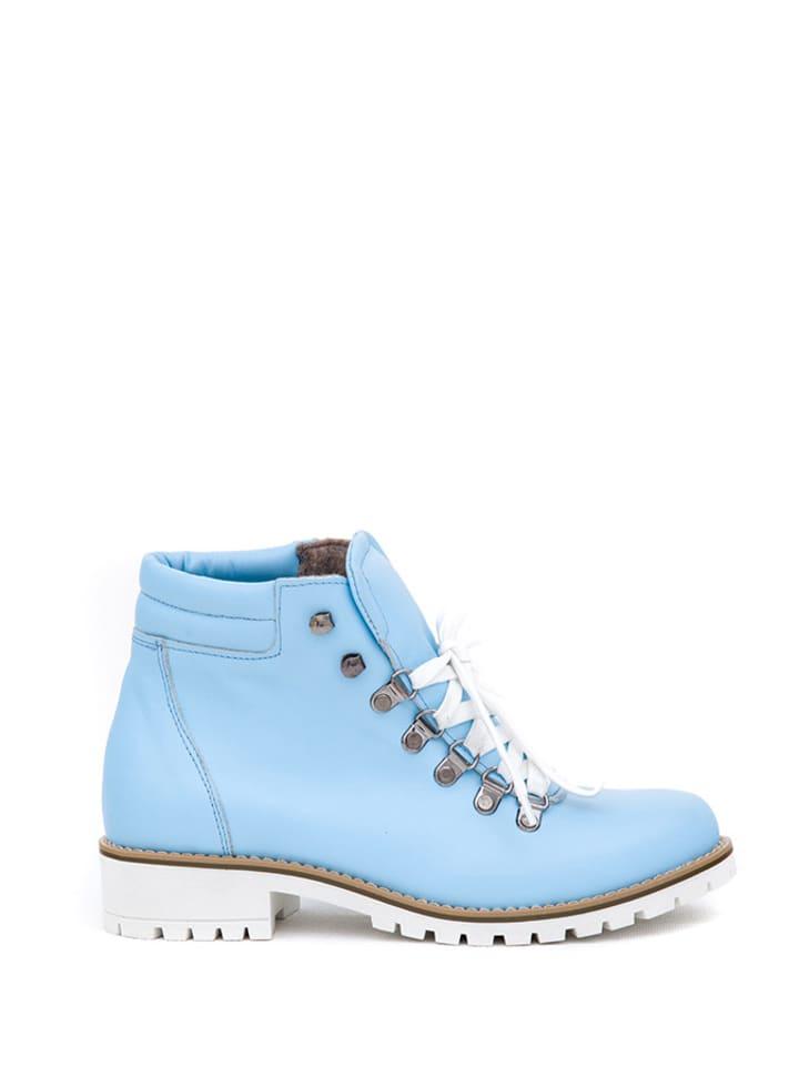 99ea9295b071 Zapato - Leder-Ankle-Boots in Hellblau   limango Outlet