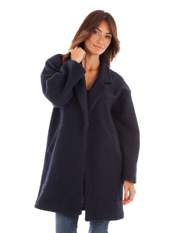 Winter Time Mantel donkerblauw