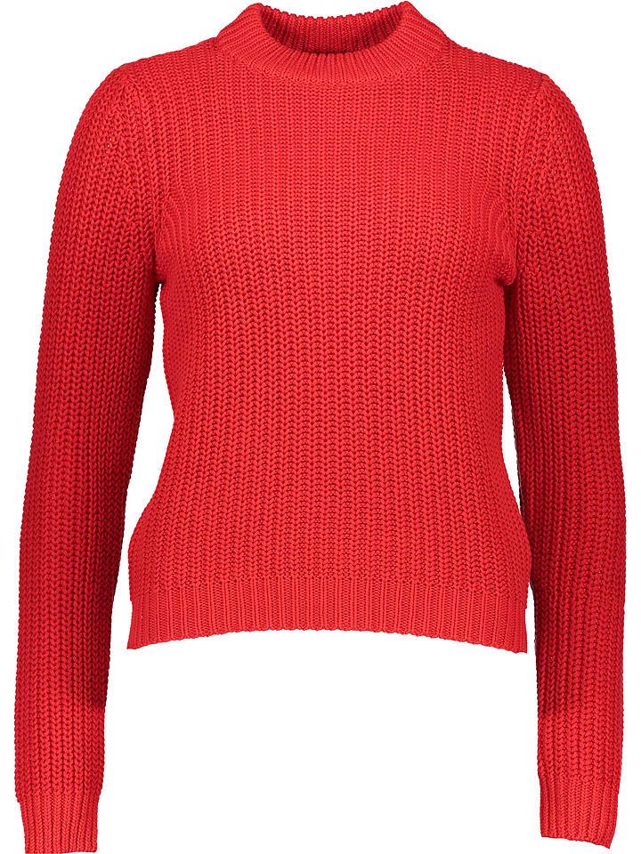 """Object Sweter """"Frey"""" w kolorze czerwonym"""