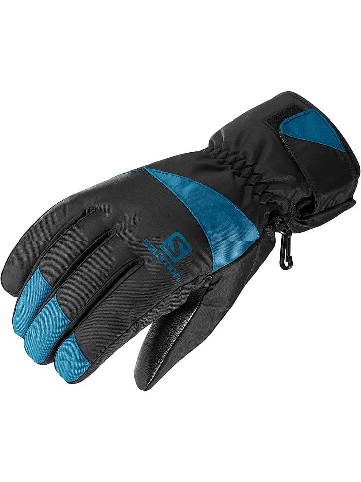 """SALOMON Rękawiczki narciarskie """"Force"""" w kolorze czarno-niebieskim"""
