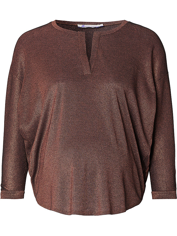 Queen Mum Bluzka ciążowa w kolorze brązowym