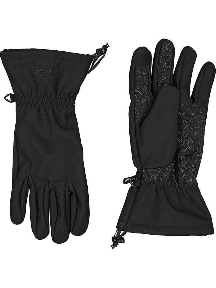 CMP Rękwiczki softshellowe w kolorze czarnym