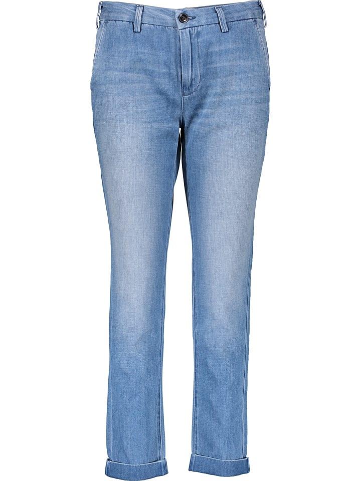 Lee Dżinsy - Slim Chino - w kolorze niebieskim