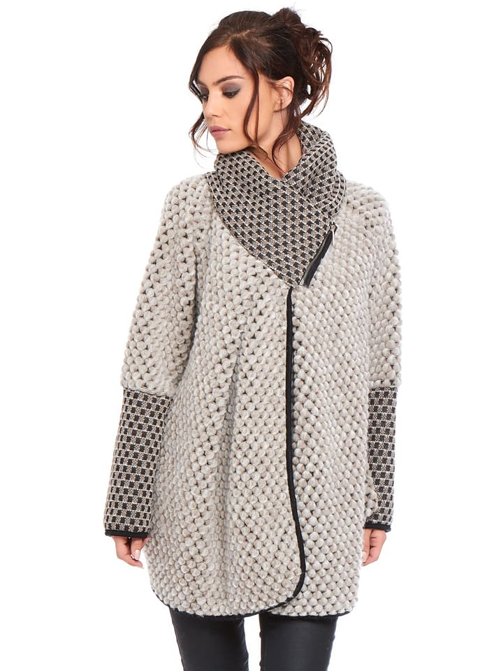 """Cosy Winter Cardigan """"Mina"""" in Taupe"""