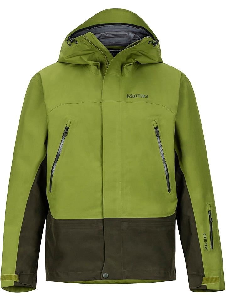 """Marmot Kurtka narciarska """"Spire"""" w kolorze zielonym"""