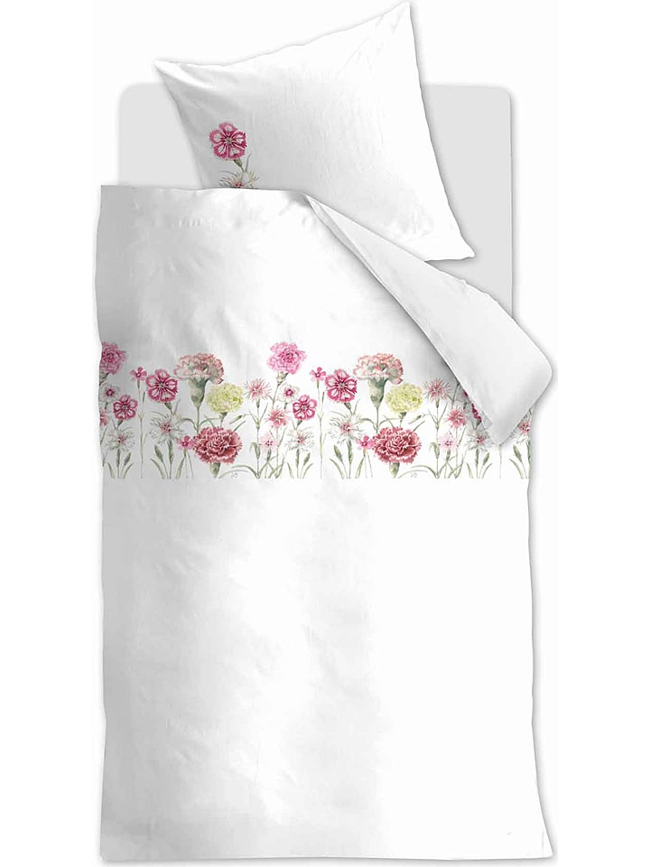 "Marjolein Bastin Beddengoedset ""Romantic Field"" wit/roze"