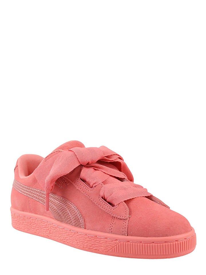 "Puma Shoes Baskets en cuir ""Heart Suede"" - rose"