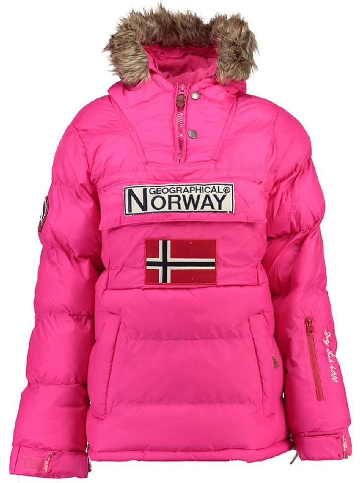 """Geographical Norway Kurtka zimowa """"Bianca"""" w kolorze różowym"""
