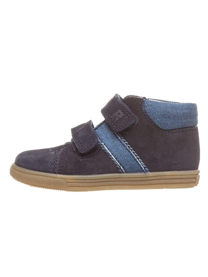 Richter Shoes Skórzane sneakersy w kolorze granatowym