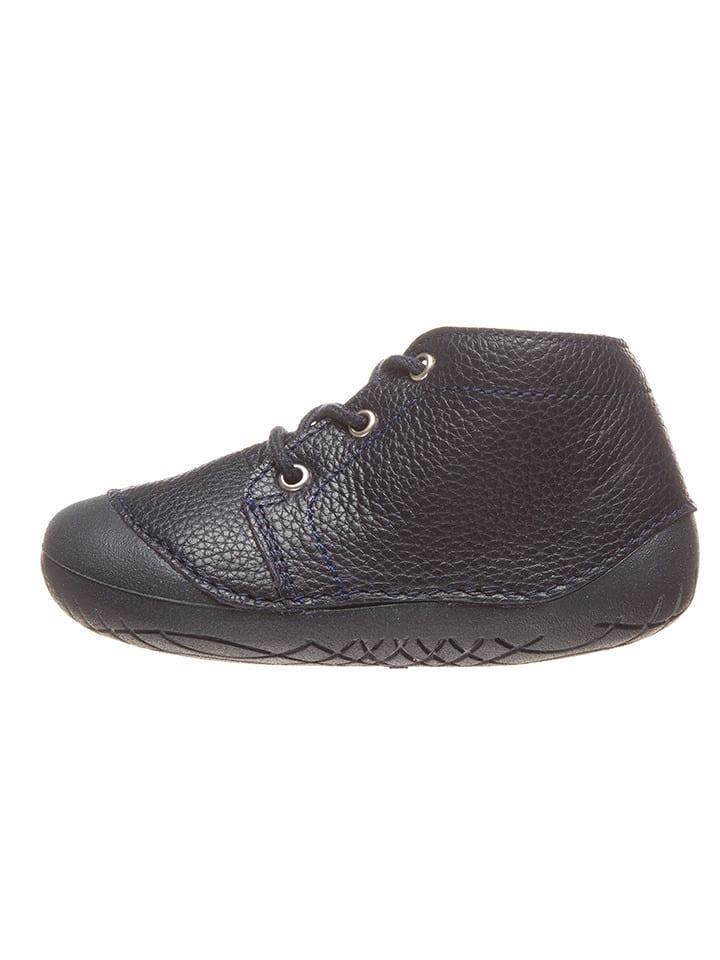 Richter Shoes Skórzane buty w kolorze granatowym do nauki chodzenia