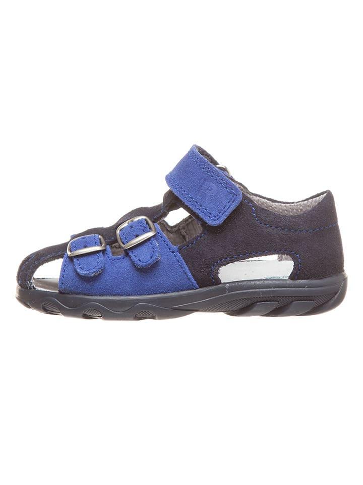 Richter Shoes Skórzane półsandały w kolorze granatowym