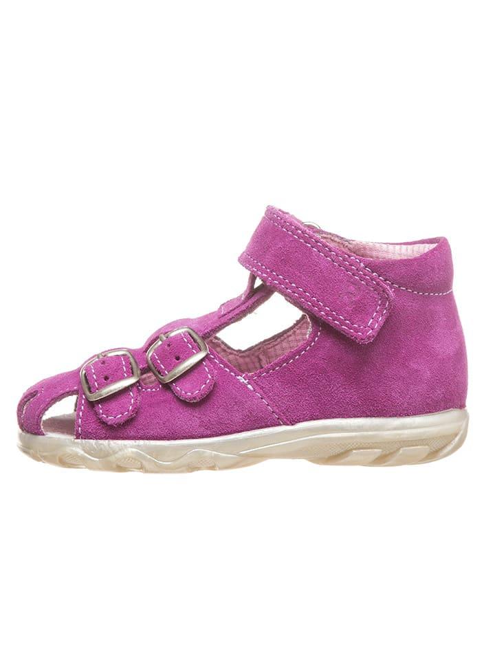 Richter Shoes Skórzane półsandały w kolorze różowym