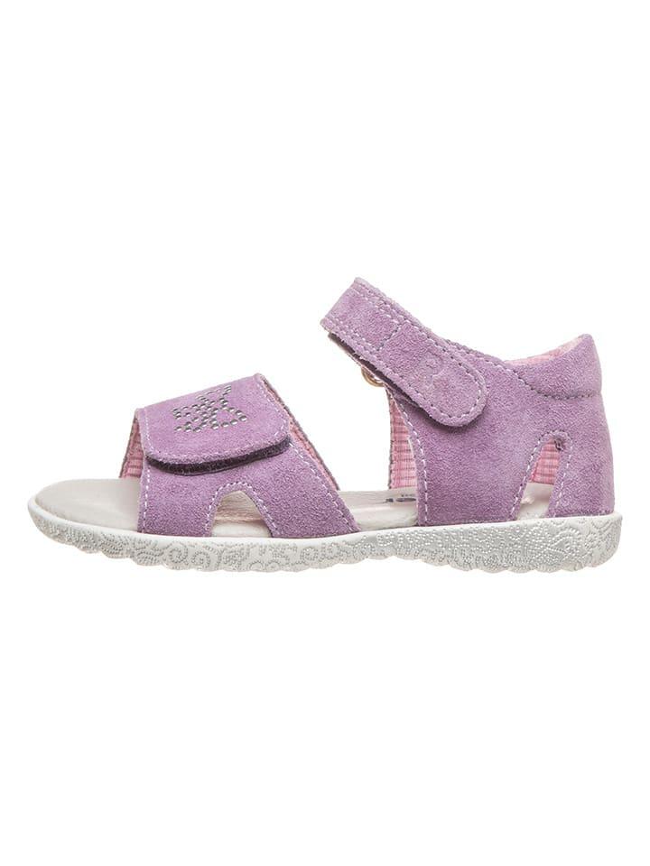 Richter Shoes Skórzane sandały w kolorze fioletowym