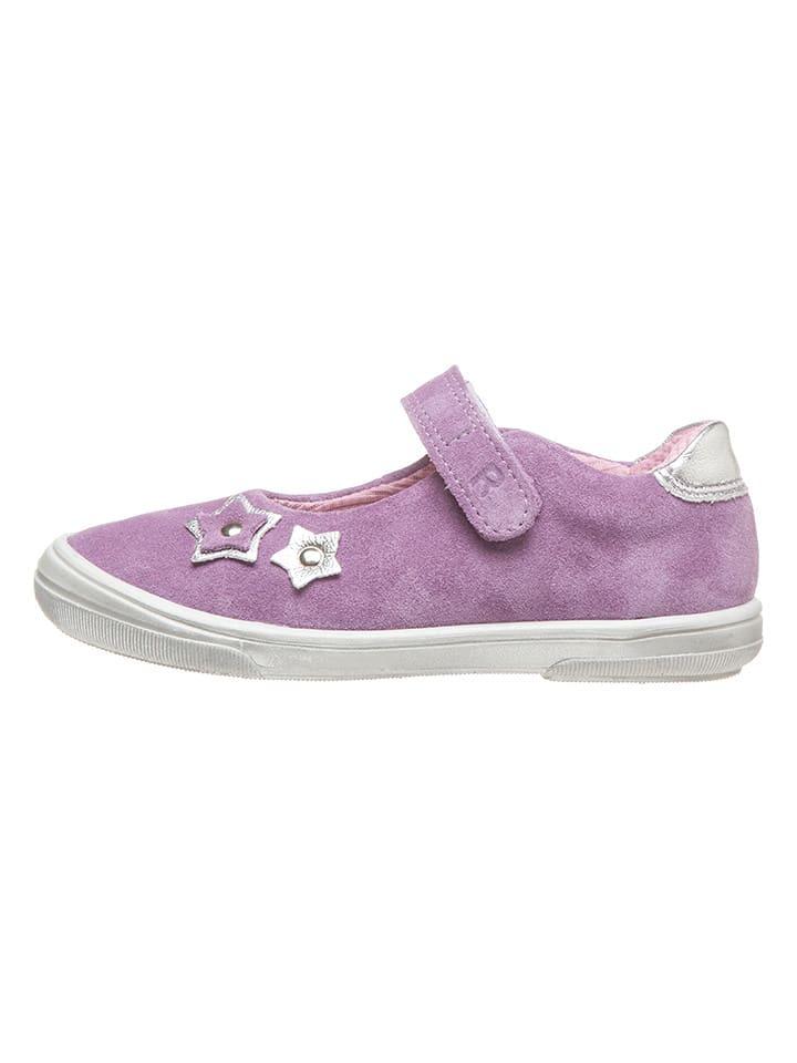 Richter Shoes Skórzane baleriny w kolorze fioletowym