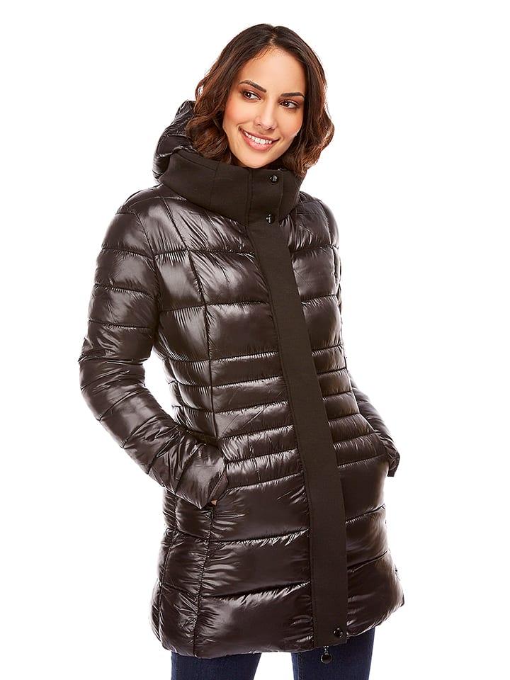 Snowie Collection Płaszcz zimowy w kolorze czarnym