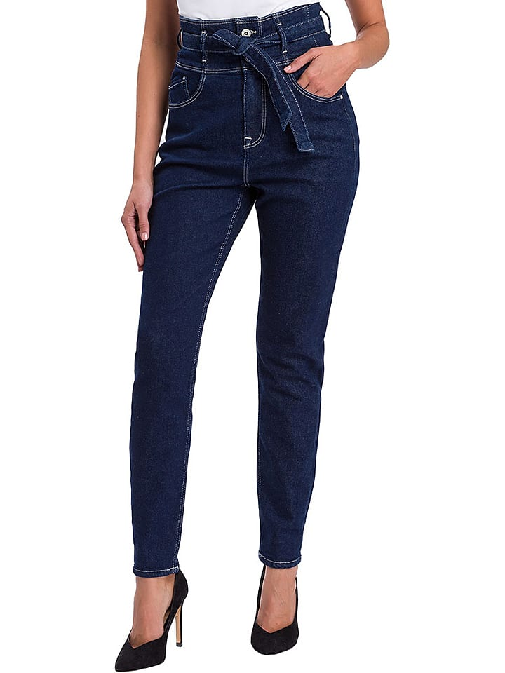 "Cross Jeans Dżinsy ""Joy"" - Regular fit - w kolorze granatowym"