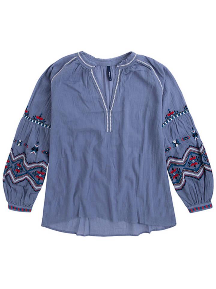 Pepe Jeans Bluzka w kolorze niebieskim