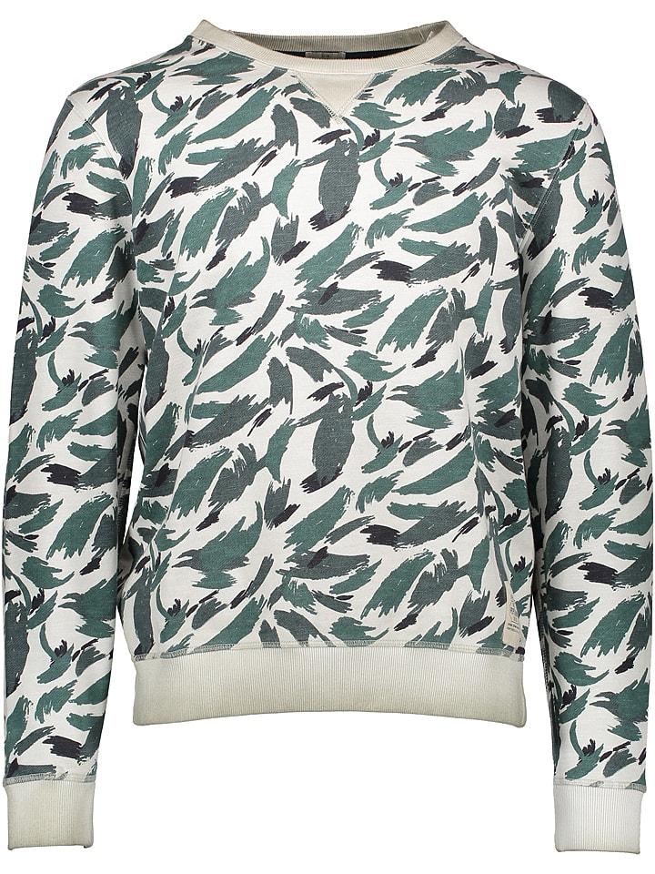 """Pepe Jeans Bluza """"Abbasi"""" w kolorze kremowo-zielonym"""