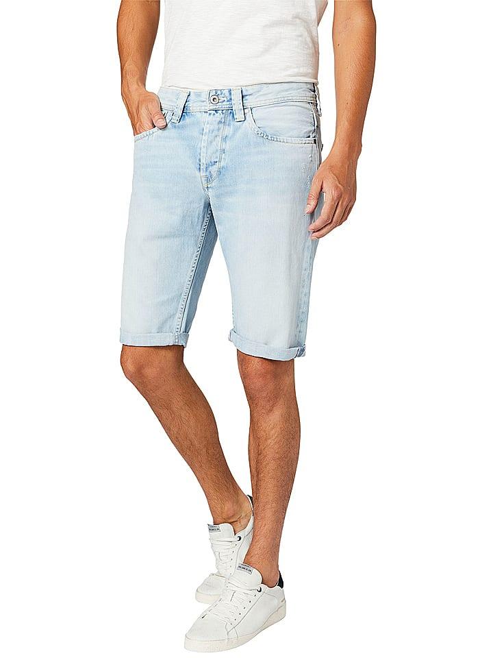 "Pepe Jeans Short en jean ""Cash"" - regular fit - bleu clair"