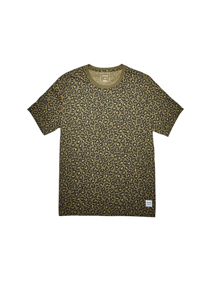 Converse T-shirt w kolorze zielonym ze wzorem