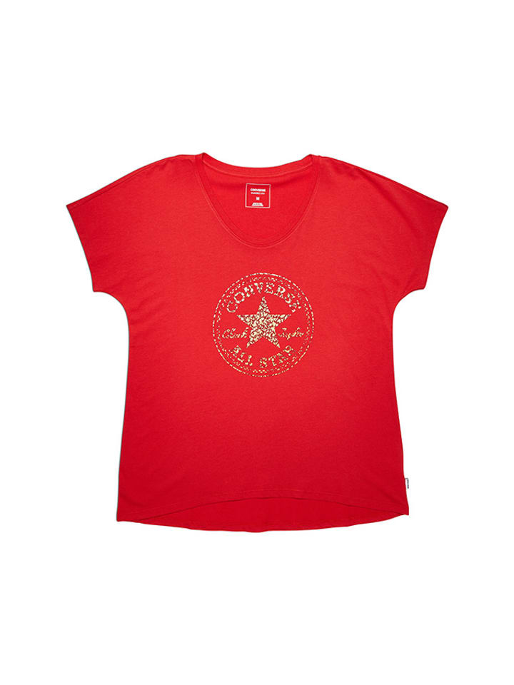 Converse T-shirt w kolorze czerwonym